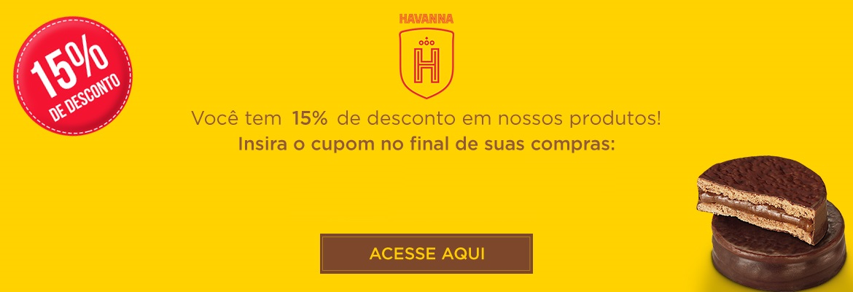 Desconto na loja virtual Havanna.
